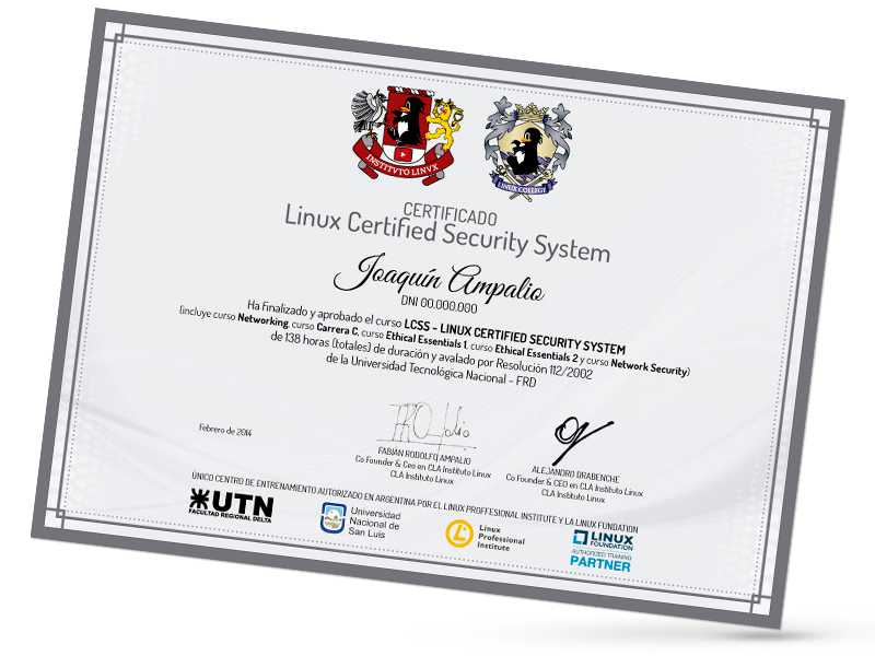 Certificación Linux Security System