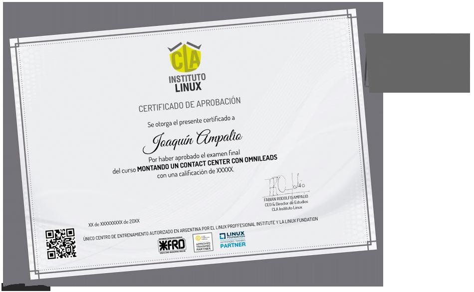 Certificación CLA Instituto Linux