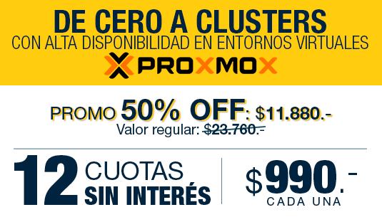 PROXMOX en 12 cuotas de $ 990.-