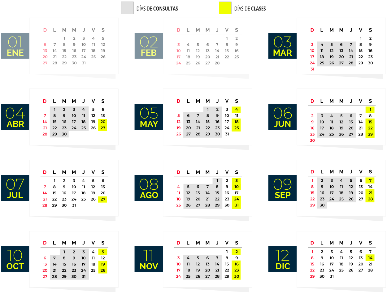 Calendario Curso LSA