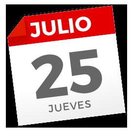 Jueves, 25 de julio de 2019