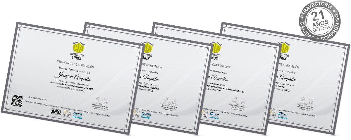 Certificación LINUX SYSTEM ADMINISTRATOR + Certificación LINUX SYSTEM ENGINEER
