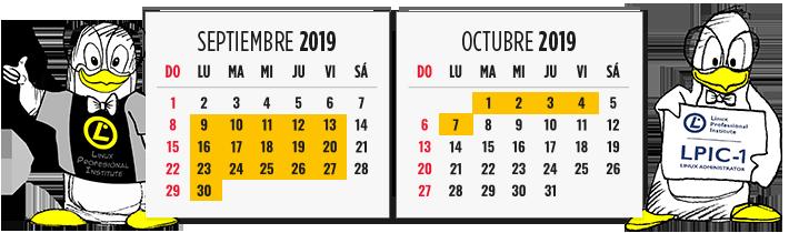 Del 9 de septiembre al 7 de octubre
